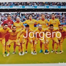 Coleccionismo deportivo: F.C. BARCELONA. ALINEACIÓN PARTIDO DE LIGA 2015-2016 EN RIAZOR CONTRA D. CORUÑA. FOTO. Lote 80538385