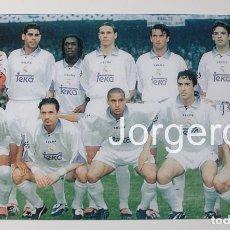 Coleccionismo deportivo: R. MADRID. ALINEACIÓN GANADOR CHAMPIONS 1997-1998 EN AMSTERDAM CONTRA LA JUVENTUS. FOTO. Lote 167058118