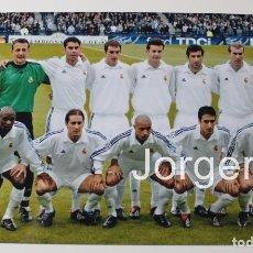 Coleccionismo deportivo: R. MADRID. ALINEACIÓN GANADOR CHAMPIONS 2001-2002 EN GLASGOW CONTRA B. LEVERKUSEN. FOTO. Lote 178285373
