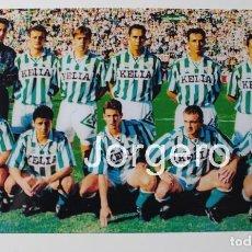 Coleccionismo deportivo: R. BETIS B. ALINEACIÓN PARTIDO DE LIGA 1994-1995 EN EL BENITO VILLAMARÍN CONTRA EL SEVILLA. FOTO. Lote 209255623