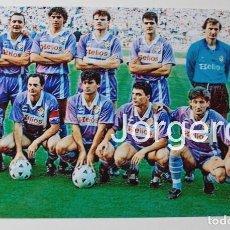 Coleccionismo deportivo: R. VALLADOLID. ALINEACIÓN FINALISTA COPA DEL REY 1988-1989 EN EL CALDERÓN CONTRA R. MADRID. FOTO. Lote 144930430