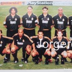 Coleccionismo deportivo: R. MADRID. ALINEACIÓN GANADOR CHAMPIONS 1999-2000 EN PARÍS CONTRA EL VALENCIA. FOTO. Lote 178280922