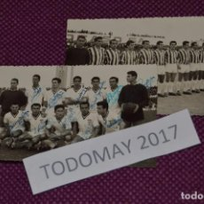 Coleccionismo deportivo: VINTAGE - LOTE DE 2 ANTIGUAS FOTOGRAFÍAS DEL LINENSE BALOMPÉDICA - FIRMADAS - RARAS - MIRA LAS FOTOS. Lote 81028892