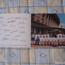 Coleccionismo deportivo: FOTO DEL REAL MADRID CAMPEON DE LIGA 1964-65 AGRADECIMIENTO DEL TODO EL CLUB 1965. Lote 82216152