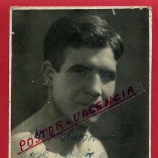 Coleccionismo deportivo: FOTOGRAFIA BOXEO, FOTO BOXEADOR VILANON , AUTOGRAFO , POSTAL , VALENCIA 1930, ORIGINAL ,BX11. Lote 83292372