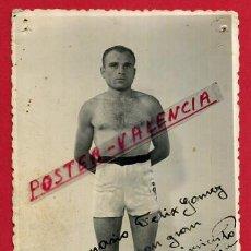 Coleccionismo deportivo: FOTOGRAFIA BOXEO, FOTO BOXEADOR JOSE FORTEA , AUTOGRAFO ,VALENCIA 1941 ,ORIGINAL ,BX30. Lote 83295920