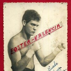 Coleccionismo deportivo: FOTOGRAFIA BOXEO, FOTO BOXEADOR TOMAS GASULLA , AUTOGRAFO , POSTAL 1943 ,ORIGINAL ,BX60. Lote 83301408
