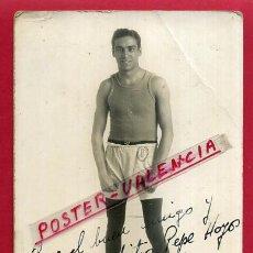 Coleccionismo deportivo: FOTOGRAFIA BOXEO, FOTO BOXEADOR JUAN PARLA, AUTOGRAFO ,POSTAL , ORIGINAL ,BX72. Lote 83303156