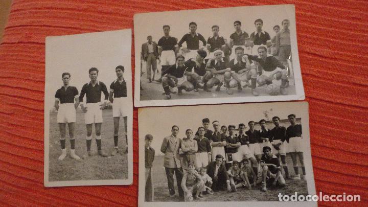 a1f8bcd3c9ec3 CONJUNTO DE 3 FOTOGRAFIAS.EQUIPO DE FUTBOL.SEVILLA  AÑOS 40.50  (Coleccionismo Deportivo