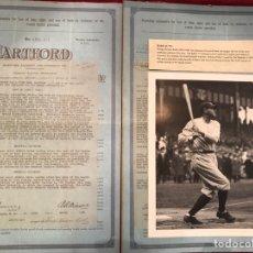 """Coleccionismo deportivo: BABE RUTH (REPRODUCCIÓN/FOTOGRAFIA AÑOS 90) """"YANKEES NEW YORK"""" BÉISBOL. Lote 83891554"""