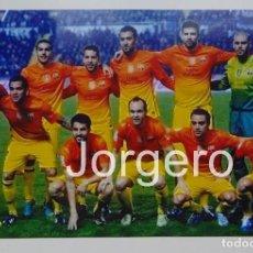 Collectionnisme sportif: F.C. BARCELONA. ALINEACIÓN PARTIDO DE LIGA 2012-2013 EN CIUTAT DE VALENCIA CONTRA EL LEVANTE. FOTO. Lote 85157464