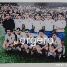 Coleccionismo deportivo: R. ZARAGOZA. ALINEACIÓN CAMPEÓN COPA GENERALÍSIMO 1965-1966 EN EL BERNABÉU CONTRA ATH. BILBAO. FOTO. Lote 209212447