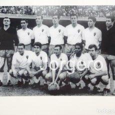Coleccionismo deportivo: R. ZARAGOZA. ALINEACIÓN FINALISTA C.GENERALÍSIMO 1962-1963 EN EL CAMP NOU CONTRA EL BARCELONA. FOTO. Lote 209212881
