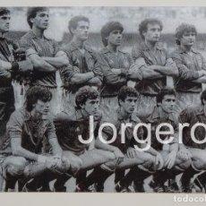 Coleccionismo deportivo: SELECCIÓN ESPAÑOLA DE FÚTBOL. ALINEACIÓN FINALISTA EUROCOPA 1984 EN PARÍS CONTRA FRANCIA. FOTO. Lote 159711793