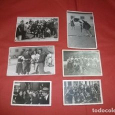 Coleccionismo deportivo: LOTE FOTOGRAFÍAS SECCIÓN FEMENINA EQUIPO DE HOCKEY MÁLAGA AÑOS 40/50. Lote 85766200