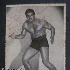 Coleccionismo deportivo: LUCHA LIBRE - FOTOGRAFIA AUTOGRAFIADA - FERMOS -VER FOTOS - (V-11.008). Lote 86567440