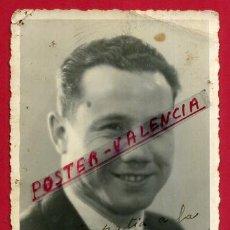 Coleccionismo deportivo: FOTOGRAFIA BOXEO, FOTO BOXEADOR L. SAINZ , AUTOGRAFO , POSTAL 1941 ,ORIGINAL ,BX97. Lote 86726184