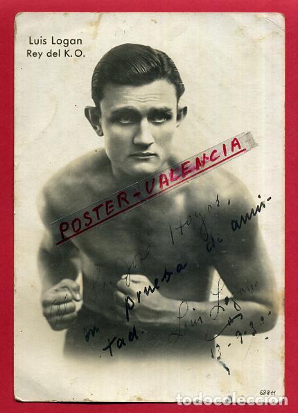FOTOGRAFIA BOXEO, FOTO BOXEADOR LUIS LOGAN REY DEL KO , AUTOGRAFO ,ORIGINAL ,BX112 (Coleccionismo Deportivo - Documentos - Fotografías de Deportes)