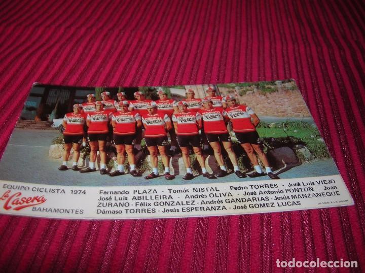Coleccionismo deportivo: Postal Equipo Ciclista 1974 La Casera Bahamontes. - Foto 2 - 86735916