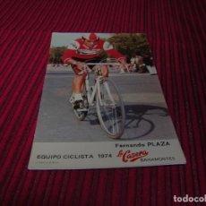 Coleccionismo deportivo: POSTAL EQUIPO CICLISTA 1974 LA CASERA. BAHAMONTES.FERNANDO PLAZA.. Lote 86736576