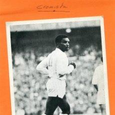 Coleccionismo deportivo: LAURIE CUNNINGHAM ( REAL MADRID ) -- FOTOGRAFIA PUBLICITARIA EN CARTON DE ' PUMA '. Lote 87069440