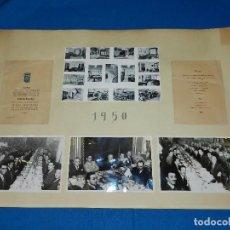 Coleccionismo deportivo: FOTOGRAFIAS DE LA CENA CONMEMORATIVA DEL MUNDO DEPORTIVO AÑO 1950 + MINUTA. Lote 92719175