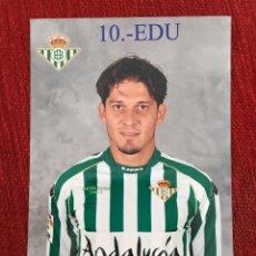 Coleccionismo deportivo: R2686 FOTO FOTOGRAFIA JUGADOR EDU REAL BETIS TAMAÑO POSTAL. Lote 93158635