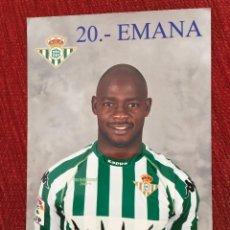 Coleccionismo deportivo: R2688 FOTO FOTOGRAFIA JUGADOR EMANA REAL BETIS TAMAÑO POSTAL. Lote 93158695