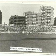 Coleccionismo deportivo: ANTIGUA FOTOGRAFIA ORIGINAL - MINUTO DE SILENCIO EN ESTADIO ZORRILLA - AÑO 1978. Lote 93326480