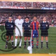 Coleccionismo deportivo: F.C. BARCELONA - GUARDIOLA Y FERNANDO HIERRO - FOTOGRAFÍA ORIGINAL DE ÉPOCA - AÑOS 90´S - 15 X 21,5 . Lote 93845450