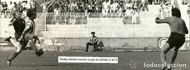 ANTIGUA FOTOGRAFIA ORIGINAL EN EL VIEJO ESTADIO DEL GETAFE - AÑO 1977 (GETAFE, 1 VALLADOLID, 0) (Coleccionismo Deportivo - Documentos - Fotografías de Deportes)