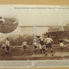 Coleccionismo deportivo: 1929 (FUTBOL) RACING DE SANTANDER GANA AL VALENCIA. SORTEO CAMPEONATO. (544). Lote 95754819