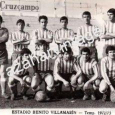 Coleccionismo deportivo: FOTOGRAFIA DEL TRIANA BALOMPIE, FILIAL DEL REAL BETIS, TEMPORADA 1972/73,180X120MM. Lote 96753511