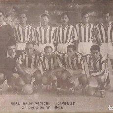 Coleccionismo deportivo: FOTOGRAFIA ENMARCADA BALOMPEDICA LINENSE 1946. Lote 97204427