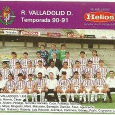 Coleccionismo deportivo: FOTOGRAFIA DE LA PLANTILLA DEL REAL VALLADOLID LA TEMPORADA 1990-91 CON PUBLICIDAD DEL PATROCINADOR . Lote 97402579