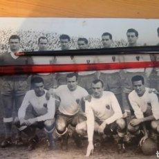 Coleccionismo deportivo: FOTOGRAFÍA ORIGINAL DE FUBOL EQUIPO REAL ZARAGOZA 1958. Lote 100310604