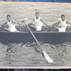 Coleccionismo deportivo: ESPECATACULAR GRAN FOTO , PIRAGUA , CANOA , K4 , PIRAGUISMO ,NORTE ESPAÑA , ANTIGUA. Lote 101300243