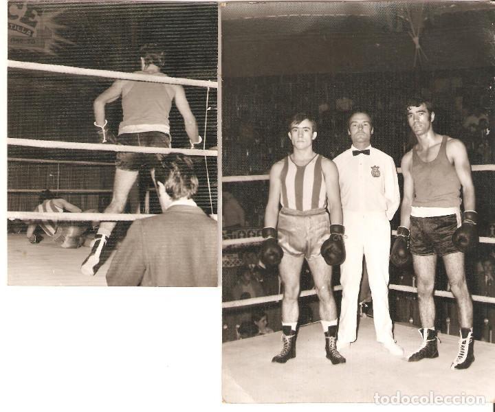 LOTE 2 FOTOGRAFÍAS DE BOXEO. (Coleccionismo Deportivo - Documentos - Fotografías de Deportes)