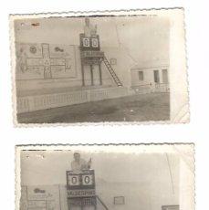 Coleccionismo deportivo: LA LINEA DE LA CONCEPCION. 2 FOTOGRAFIAS DEL ESTADIO DE LA LINEA. 1950. FOTO MARTIN. VER. Lote 102928535