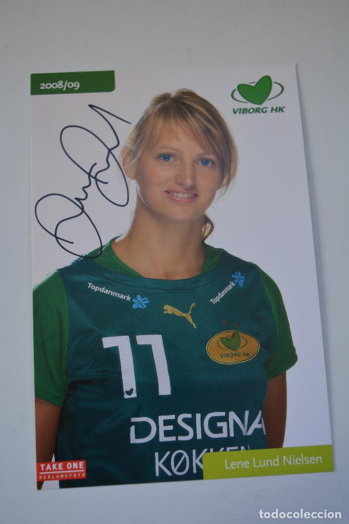 FOTO DE LENE LUND NIELSEN (BALONMANO) DINAMARCA (Coleccionismo Deportivo - Documentos - Fotografías de Deportes)