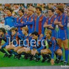 Coleccionismo deportivo: F.C. BARCELONA. ALINEACIÓN PARTIDO DE LIGA 1984-1985 EN EL L. CASANOVA CONTRA EL VALENCIA. FOTO. Lote 103722959