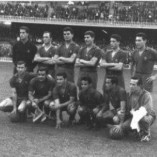 Coleccionismo deportivo: FG-248. F.C. BARCELONA. ALINEACIÓN TIPO DEL EQUIPO EN LA TEMPORADA 1962-1963.. Lote 103745891