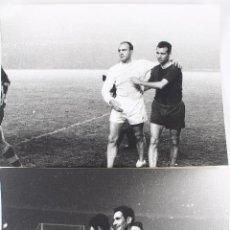 Coleccionismo deportivo: FG-268. FC BARCELONA. 23.11.60 COPA DE EUROPA. FCB 2-1 REAL MADRID. FINAL PARTIDO. 2 FOTOS.. Lote 111201550