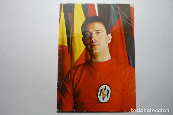 TARJETA DEPORTES SELECCION ESPAÑOLA HOCKEY SOBRE PATINES JUGADOR JUAN SABATER ESCUDE-REUS (Coleccionismo Deportivo - Documentos - Fotografías de Deportes)
