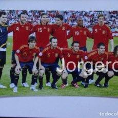Coleccionismo deportivo: SELECCIÓN ESPAÑOLA DE FÚTBOL. ALINEACIÓN CAMPEÓN EUROCOPA 2008 EN VIENA CONTRA ALEMANIA. FOTO. Lote 178284677