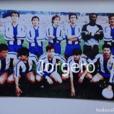 Coleccionismo deportivo: R.C.D. ESPANYOL. ALINEACIÓN FINALISTA COPA UEFA 1987-1988 EN LEVERKUSEN CONTRA BAYER L (V). FOTO. Lote 207808292