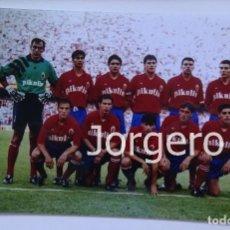 Coleccionismo deportivo - R. ZARAGOZA. ALINEACIÓN FINALISTA COPA DEL REY 1992-1993 EN EL LUIS CASANOVA CONTRA R. MADRID. FOTO - 144930718