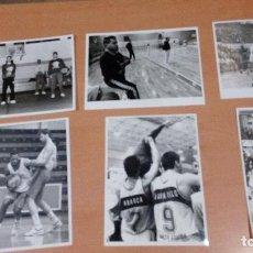 Coleccionismo deportivo: LOTE 6 FOTOS ORIGINALES JUVER MURCIA BASKET AÑOS 90 - MEDIDAS 24 X18 - FOTOS TITO BERNAL MURCIA . Lote 107282335