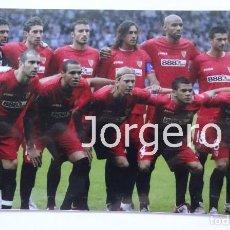 Coleccionismo deportivo: SEVILLA F.C. ALINEACIÓN CAMPEÓN COPA UEFA 2006-2007 EN GLASGOW CONTRA EL ESPANYOL. FOTO. Lote 107283075