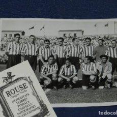 Coleccionismo deportivo: ATH BILBAO - ESPECTACULAR FOTOGRAFIA ORIGINAL DEL ATH BILBAO CAMPEON DE ESPAÑA 1933, 18 X 13 CM. Lote 108786727